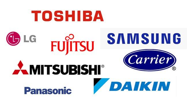 Verschillende airco merken