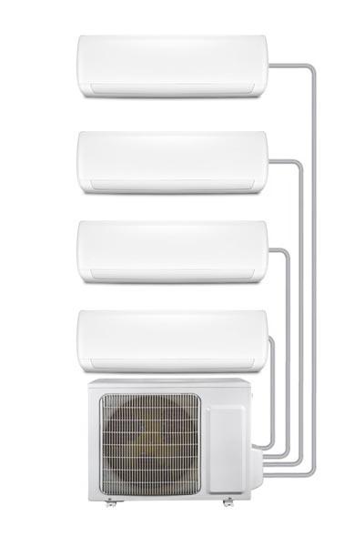 Energie gebruik van airco met 4 binnenunits