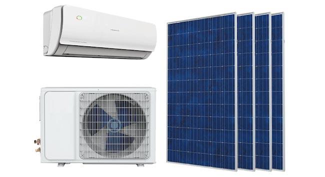 Elektriciteit van zonnepanelen voor airco gebruiken