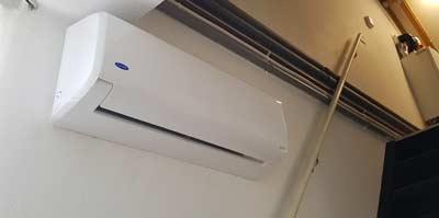 Meerdere slaapkamers koelen met airco op de overloop