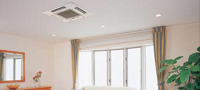 Minder zichtbare plafond airco