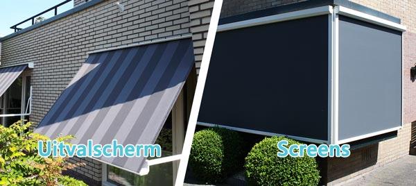 Verschillen tussen een uitvalschermen en screens