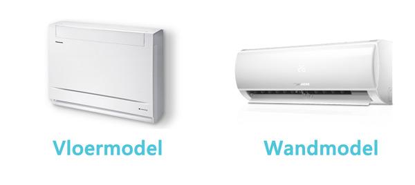 Wat zijn de verschillen tussen een wandmodel en vloerairco?